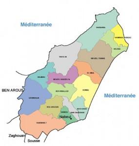 Carte_Gouvernorat_Nabeul_Tunisie